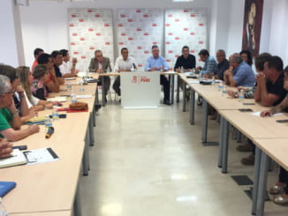 Caraballo se ha reunido con representantes políticos de las comarcas Sierra y Costa