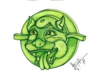 El bocín de Espuelas es un diseño animado que contempla las características curvas de su obra
