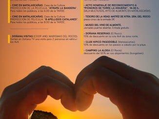 Caartel anunciador del Día del Turismo en Almonte