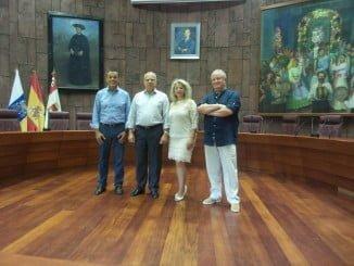 Caraballo se ha reunido en San Sebastián de La Gomera con el presidente del Cabildo