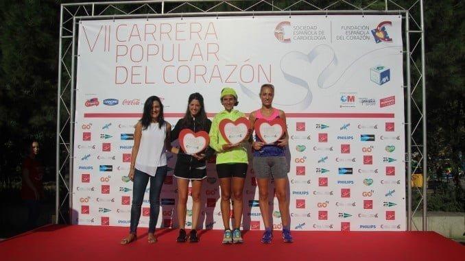 La atleta Lidia Rodríguez pisó el podio en esta singular carrera