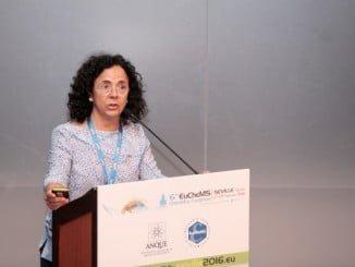 Joana Frontela, responsable del Centro de Investigación de Cepsa, durante una de las presentaciones realizadas por la Compañía en el congreso