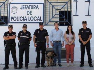 Bollullos par del Condado ya cuenta con unidad canina para luchar contra el tráfico y consumo de drogas