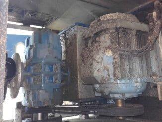 Imagen del deterioro de los soplantes de aireación, imprescindibles en la depuración de aguas