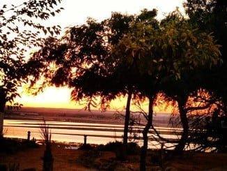 Atardecer en Huelva visto desde El Conquero