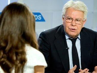 Felipe González abrió el día en el que dejaron a Pedro Sánchez con menos de la mitad de miembros de la Ejecutiva del PSOE.