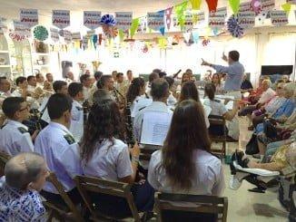 Concierto de la banda en las fiestas patronales de Ayamonte.