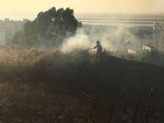 Imagen del incendio en El Conquero