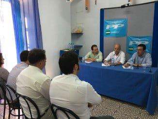 Reunión de coordinadores comarcales del PP en la provincia de Huelva.