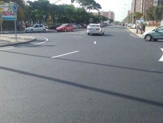 Nuevo asfaltado en la rotonda Santa Marta con Doctor Juan Nicolás