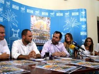 Organizadores del evento durante la presentación del Oktoberfest