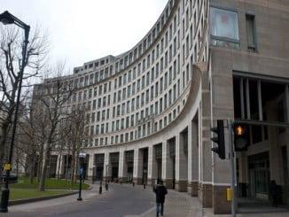 Actual sede de la Agencia Europea del Medicamento en Londres, que tras el brexit saldrá de allí