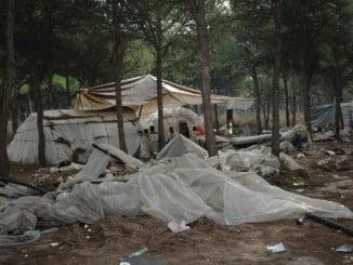 Los restos se encontraban en un asentamiento de chabolas en el camino Monturrio