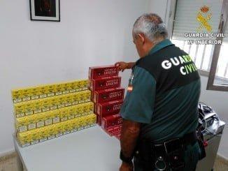 Imagen del tabaco incautado por la Guardia Civil