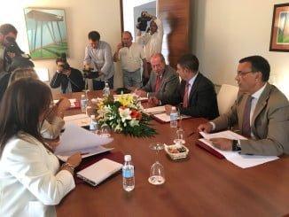 Los presidentes de las Diputaciones provinciales andaluzas, reunidos en Baeza