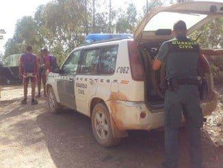 Los agentes procedieron a hidratarlos, evacuándolos a un lugar seguro