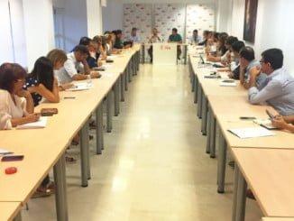 Reunión de cargos del PSOE