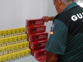 Imagen de tabaco de contrabando intervenido por la Guardia Civil de Huelva