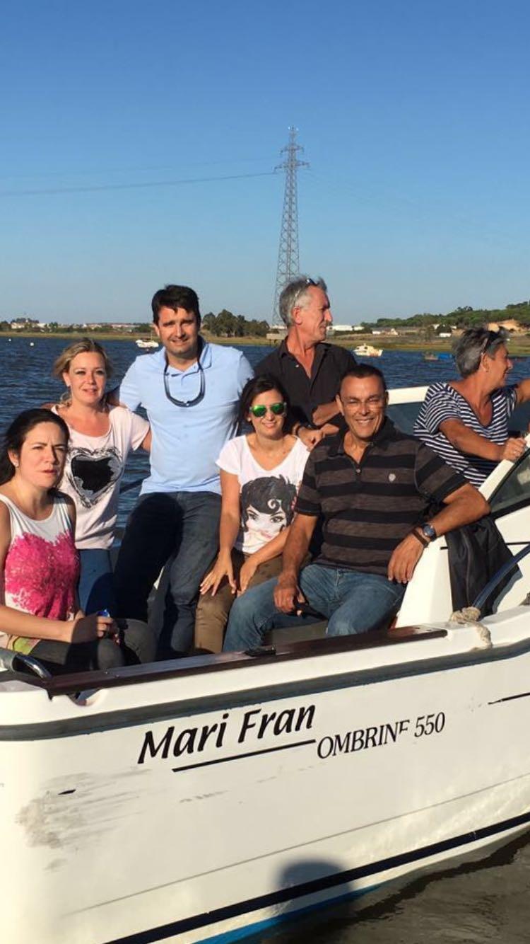 Caraballo recorre los puertos colombinos en barco