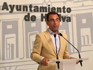 Ángel Sánchez, portavoz del Grupo Popular del PP en el Ayuntamiento de Huelva