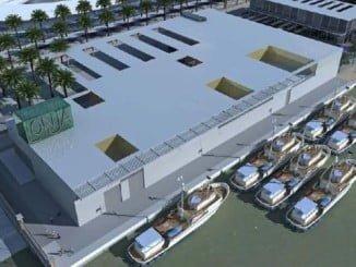 Este edificio estará integrado en un entorno conformado por paseos, bulevares y zonas de circulación internas. La lonja dispondrá de 120 plazas de aparcamientos.