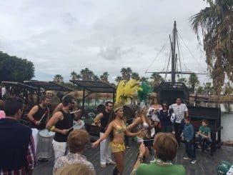 el Muelle de las Carabelas volvió a ser el centro de atención de la celebración del 12 de octubre