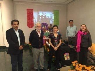 Escenificación el año pasado de la Fiesta de Muertos Mexicana en el OCIb 2015.