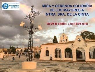Cartel de la Misa y ofrenda solidaria a la Virgen de La Cinta