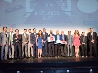 Imagen retrospectiva de la entrega de los premios AJE-andalucía de la pasada edición