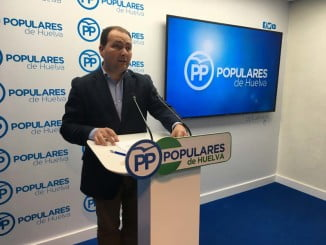David Toscano, portavoz del PP en la Diputación de Huelva