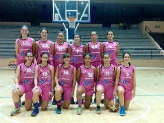Equipo el Conquero que compite en 1º División Femenina16-17,  tras la injusta decisión tomada por la Federación Española de Baloncesto.