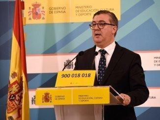 El secretario de Estado de Educación, Formación Profesional y Universidades, M. Marín