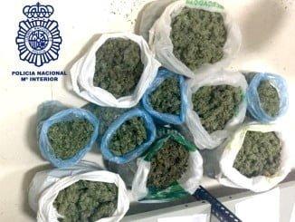 Droga incautada a los detenidos