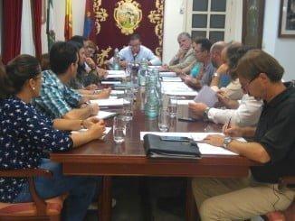 Instantánea de la celebración del último pleno en el Ayuntamiento de Aracena