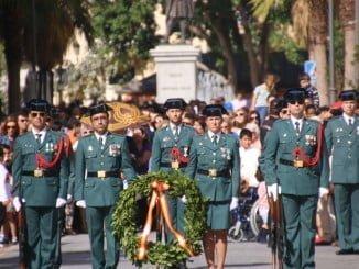 Actos institucionales de la pasada edición de la festividad de la Patrona de la Guardia Civil
