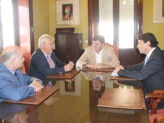 Ayuntamiento de Huelva y Aiqbe se reúnen para promocionar el Parque Huelva Empresarial