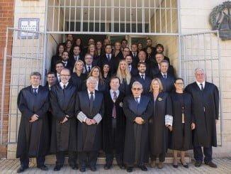 Un grupo de 16 letrados que ha realizado el perceptivo juramento