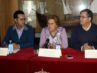 La Alcaldesa de Isla Cristina durante la presentación de las jornadas