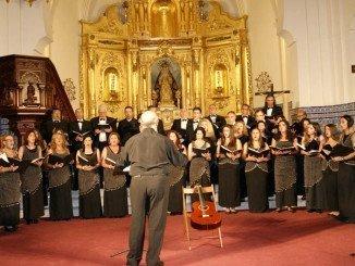 Una imagen de la actuación de la Coral Padre Mirabent en Isla Cristina