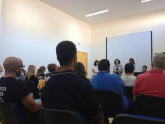 La diputada de Cooperación Internacional, Maria Eugenia Limón, en la presentación