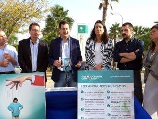 El líder de los populares en Andalucía presenta en Huelva la campaña #PorUnaSanidad10