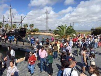 Las obras de rehabilitación del Muelle de las Carabelas comenzaron el 17 de octubre y está previsto que finalicen en torno a final de año. Mientras permanece cerrado al público