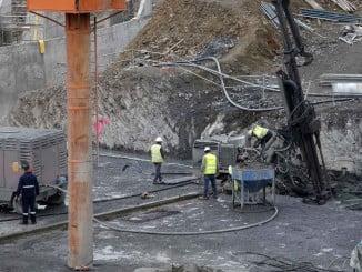 Obras de la presa de Alcolea, con 246 hectómetros cúbicos de capacidad y una inversión de 89 millones