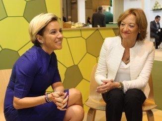 Ortiz se ha reunido en Fruit Attraction con su homólaga de Murcia, Adela Martínez-Cachá