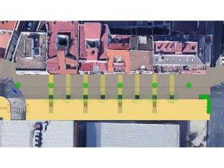 La actuación de la Avenida de Italia creará un amplio bulevar peatonal para prolongar el Centro Comercial Abierto