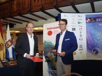 El diputado de Deportes ha viajado hasta Tenerife para presentar la Regata