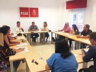 Reunión de la Sectorial de Educación del PSOE Huelva para valorar el comienzo el curso escolar.