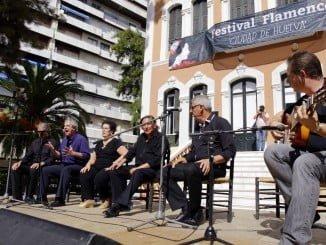 Uno de los patios de la Casa Colón acoge las actuaciones del Festival Flamenco 'Ciudad de Huelva'.