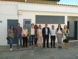 Visita del delegado de Educación al CPR Adersa de Cañaveral de León.
