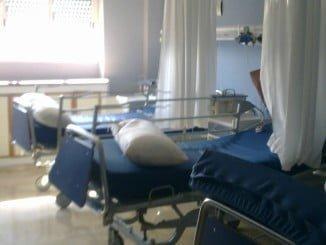 Camas en un hospital andaluz en el que se ha cerrado un ala